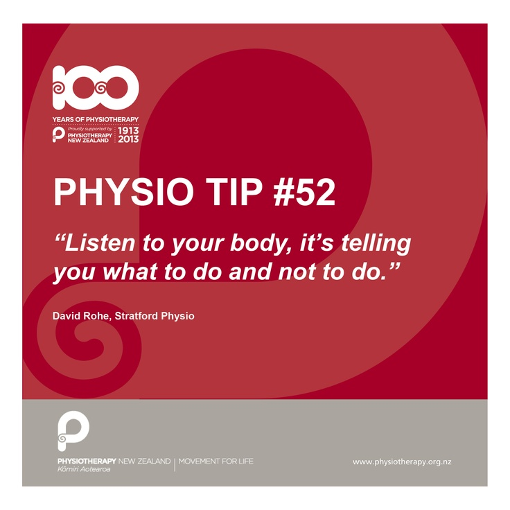 #physio tips - listen to your body