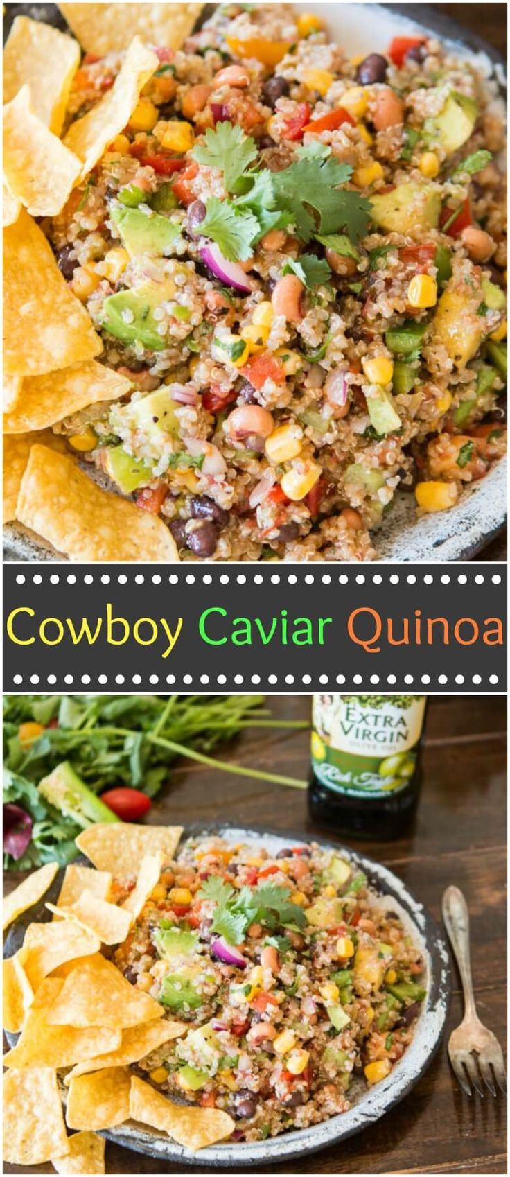 It's some of our favorites in a whole new way. Cowboy caviar quinoa is a mashup of the classic cowboy caviar salsa and a healthy quinoa side. ohsweetbasil.com