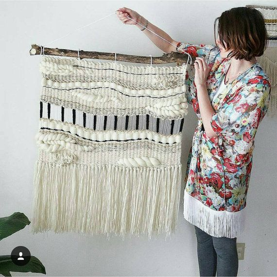 large woven tapestry wall hanging macram wall by