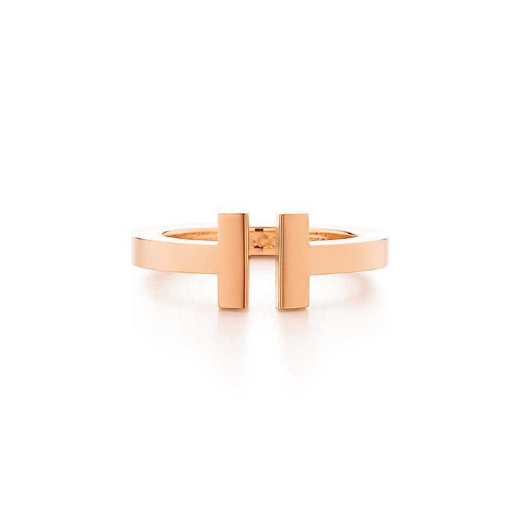 Tiffany T square ring in 18k rose gold. | Tiffany & Co.