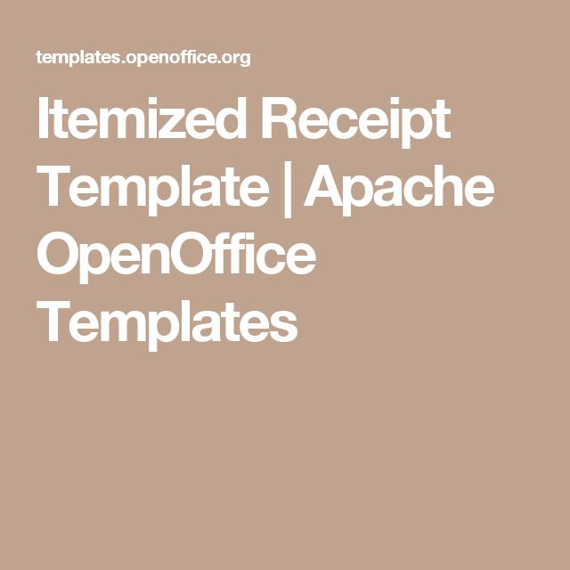 Itemized Receipt Template | Apache OpenOffice Templates