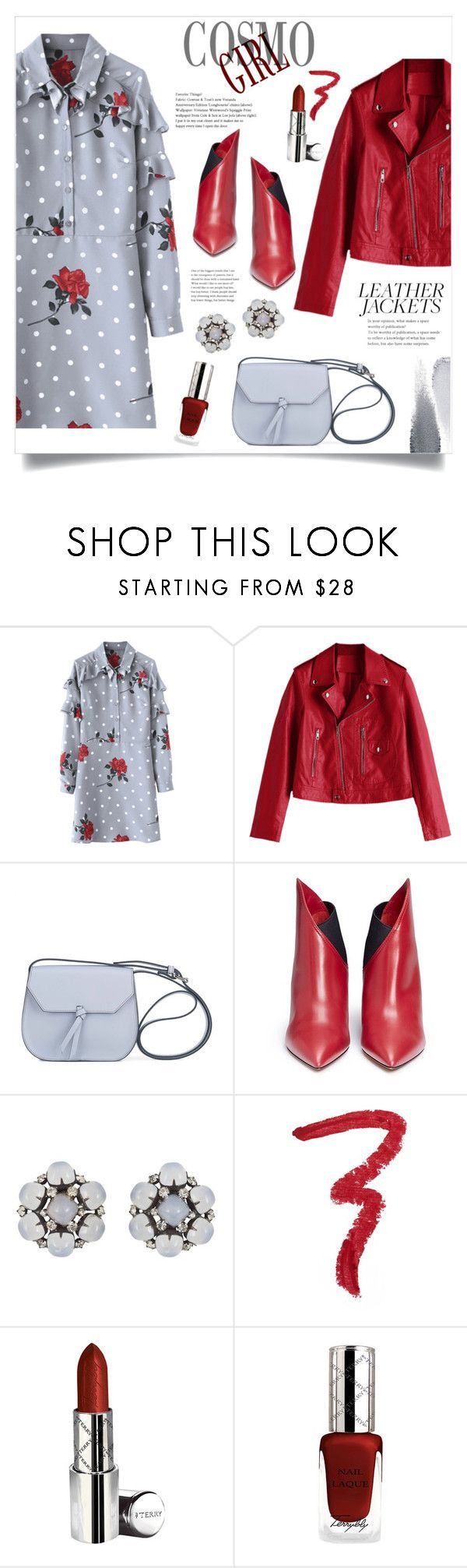 """Cosmo Girl!"" by diane1234 ❤ liked on Polyvore featuring Alexandra de Curtis, Valentino, Kenneth Jay Lane, Forever 21, By Terry and Clé de Peau Beauté"