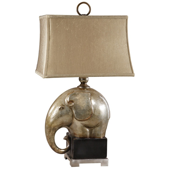 elephant lamp elephant head cute elephant elephant nursery champagne. Black Bedroom Furniture Sets. Home Design Ideas