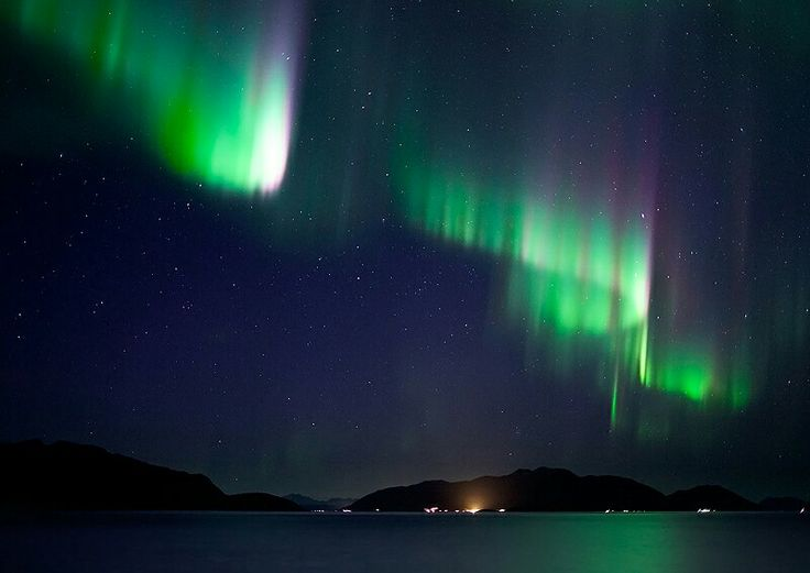 Curtains over Reinoy, Norway