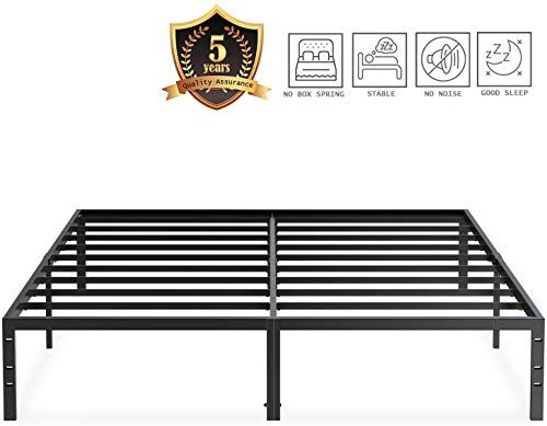 Amazing Offer On Jezwx Platform Bed Frame Queen Size Metal Heavy Duty 14 Inch Beds Frames With Storage No Box Spring Needed Black Online The108ideashits In 2020 Bed Frame With Storage