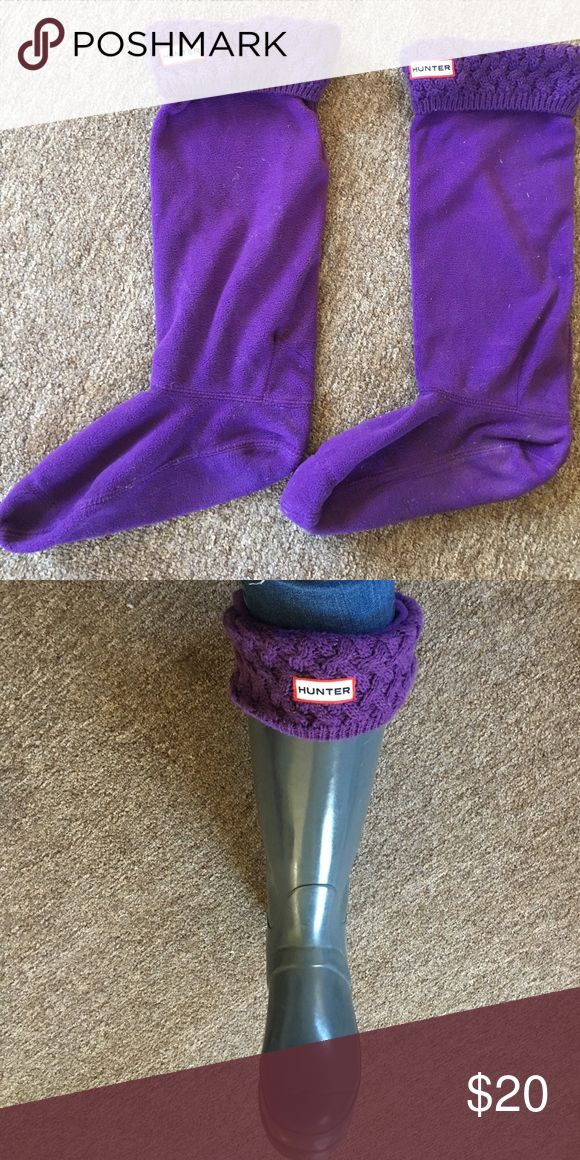 Hunter Rain Boot Socks Purple Fleece. Like New. Hunter Boots Shoes Winter & Rain Boots