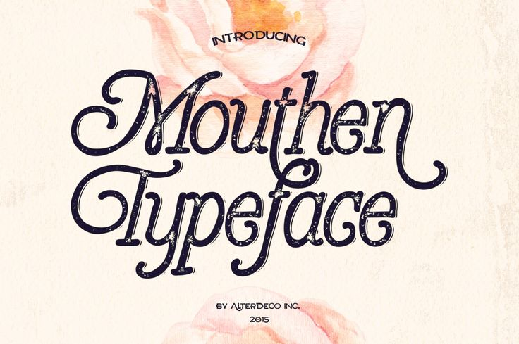 Mouthen typeface, is a rough handlettered style font. It will bring hand drawing style to your typography designs. It's perfect for wedding design projects, invitations, greeting cards, signatures, watermarks, logos, handwriting and more. in zip file you'll find a font file & preview image.Mouth