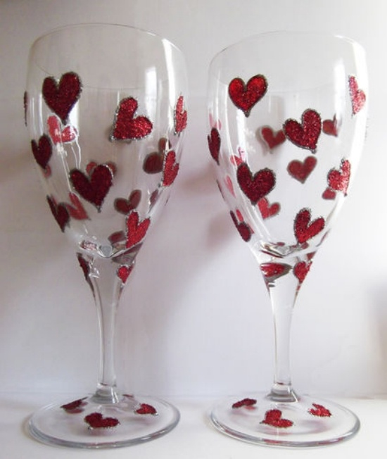 Engagement Gifts Valentine Painted Glass Crafty And Just My Type