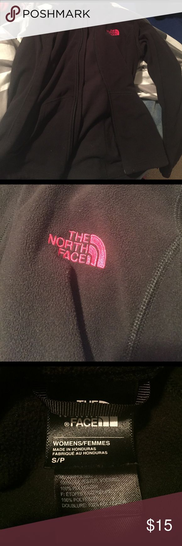 Small women's north face jacket Black with pink north face sign The North Face Jackets & Coats