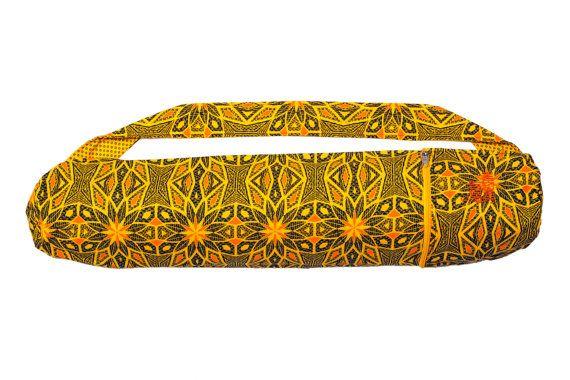 Aztec sun Shweshwe Yoga mat bag handcrafted from by SimplyShweshwe