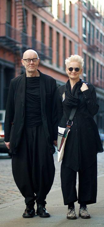 Professor Ben Fletcher and Professor Karen Pine from London on Mercer St.