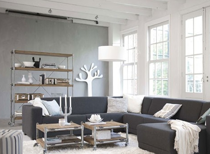 99 best 50 shades of you know grey images on pinterest for Monochromatic living room ideas