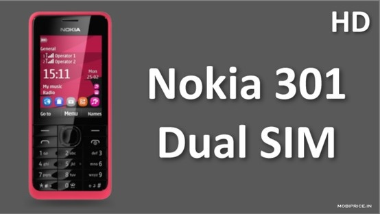"""Get New Nokia 301 Dual SIM with Smart 3.2MP digital camera,Smooth-streaming 3.5G internet connectivity,HD-voice ready tech and 2.4"""" display, Easy Swap Dual SIM, 6.0 h Talk time (3G), 504 h Standby time (3G). http://youtu.be/_IR2WMMzcGE"""