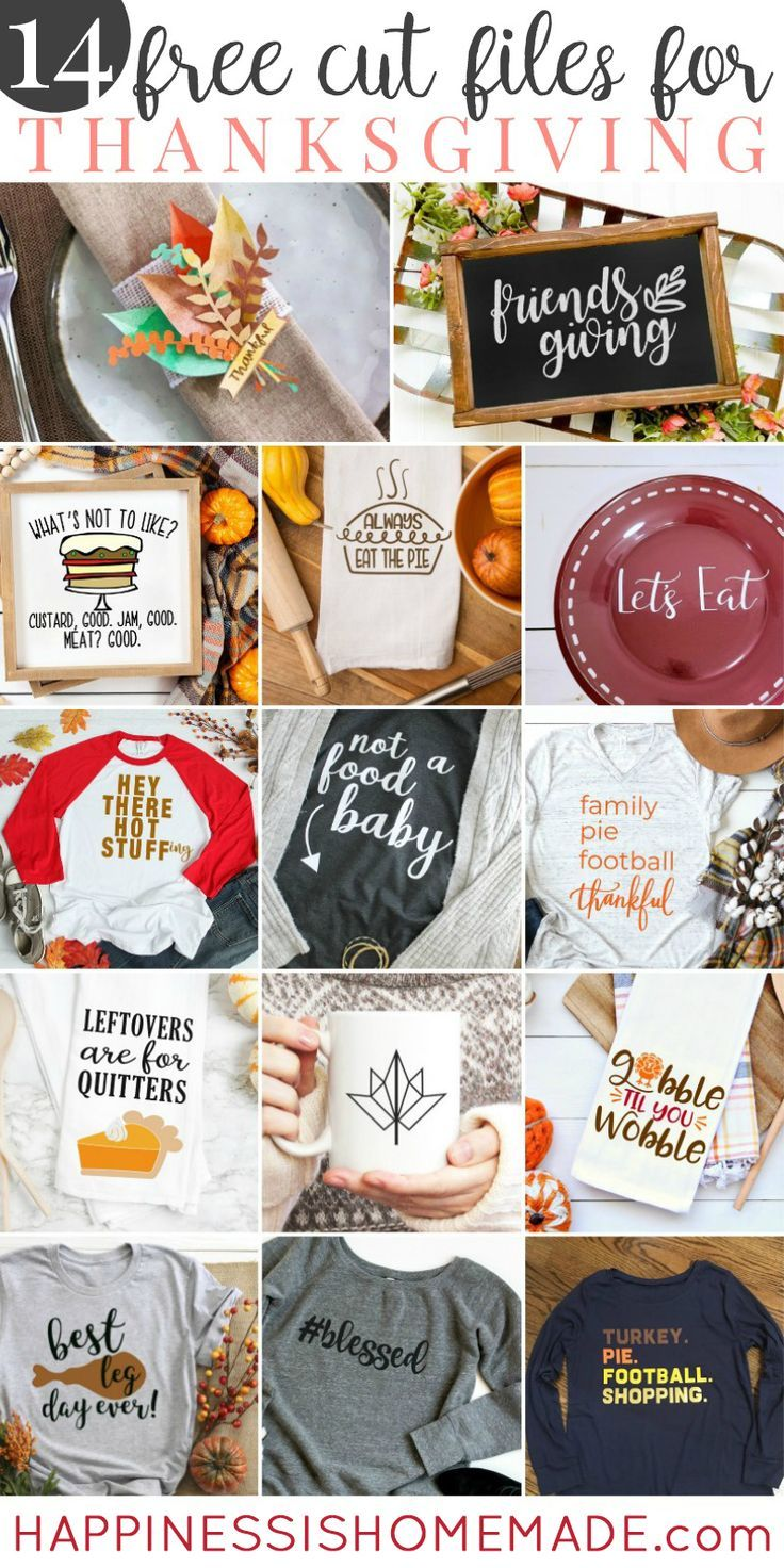 14 FREE Thanksgiving SVG Files Free Projects For Thanksgiving