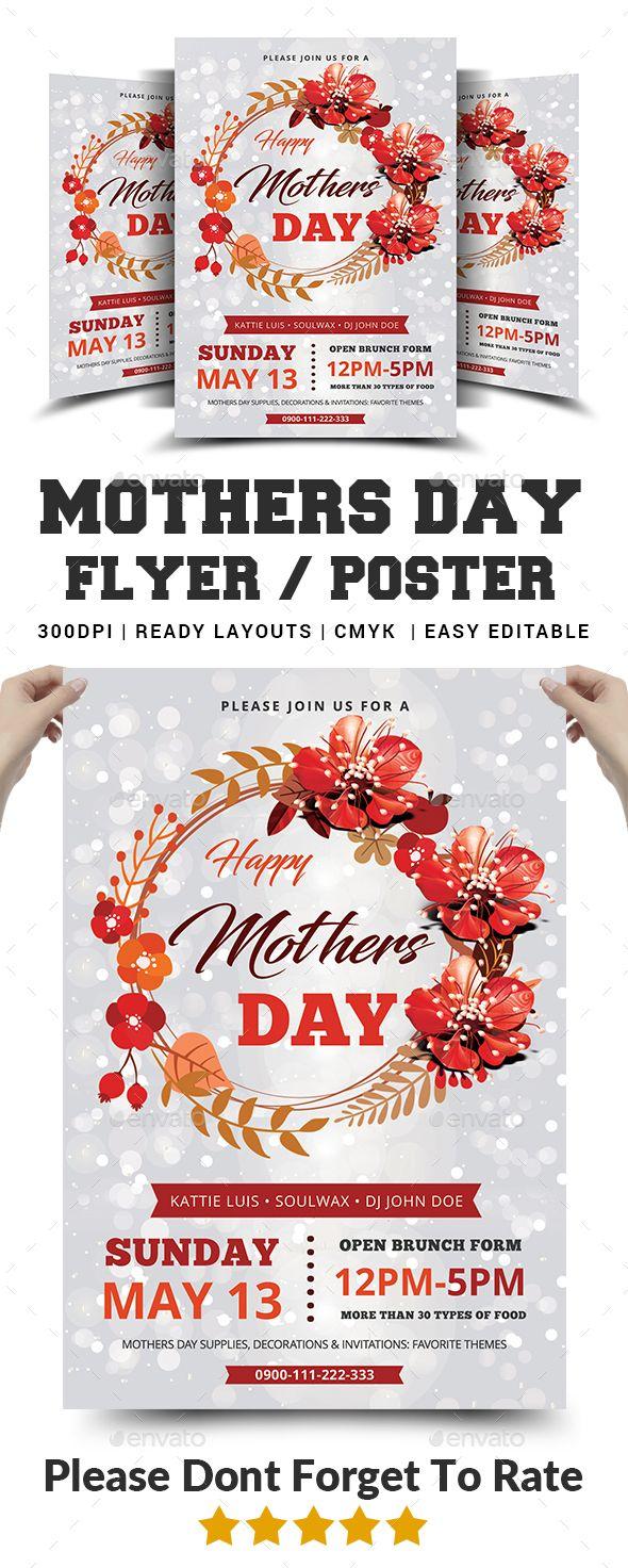 mothers day flyer best event flyer templates pinterest flyer