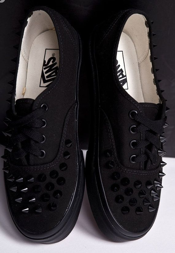 Studded Van shoes by FreeStreetShop on Etsy