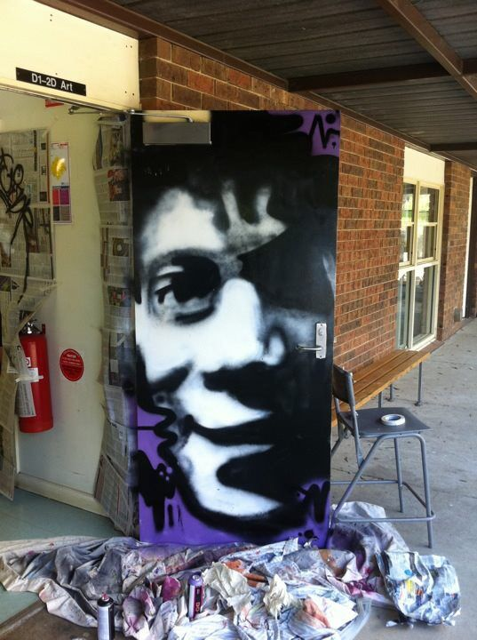 Jean-Michel Basquiat portrait. Using aerosol paint