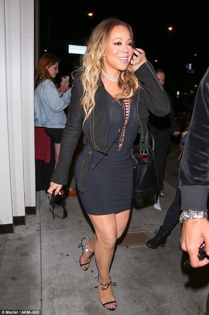 Mariah Carey salió a cenar. El problema con su vestuario exhibió lo que más intentaba ocultar