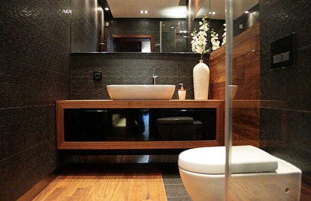 Zdjęcie nr 7: Drewno w łazience - galeria - Podłogi i ściany - Łazienka - Infor.pl