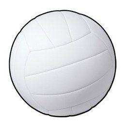 Decoratie Volleybal cutout -  Een grote decoratie van een volleybal. Afmeting: 33cm. Leuk voor een sport evenement, kinderfeest of gewoon als decoratie in een kinder of tiener slaapkamer.