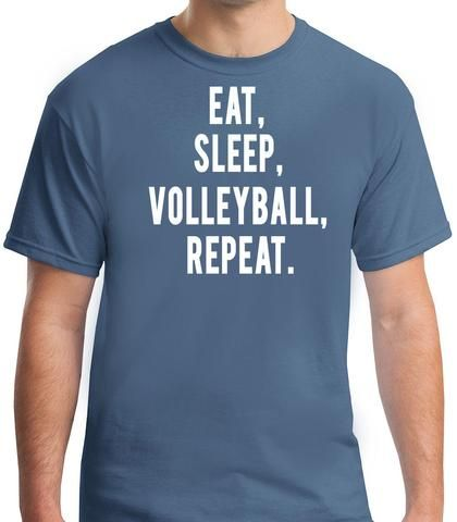Eat Sleep Volleyball Repeat T-Shirt-Men's. Gift for volleyball player. Men's volleyball. Sand volleyball. Volleyball shirts. Volleyball player shirts.