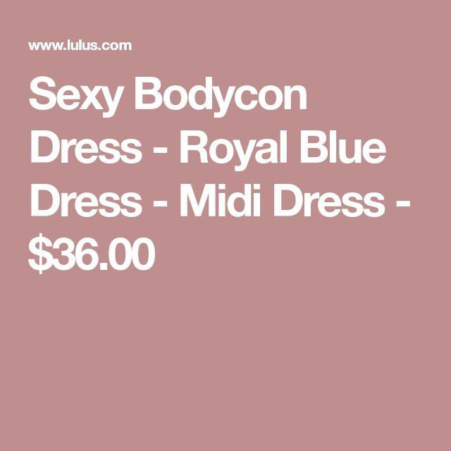 Sexy Bodycon Dress - Royal Blue Dress - Midi Dress - $36.00
