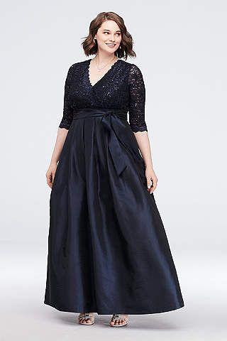28bd2f2a043 View Long Jessica Howard Dress at David s Bridal