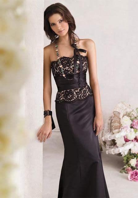 Abito da cerimonia nero e con fascia in vita decorata: scopri il fornitore che può realizzarlo per te >> http://www.lemienozze.it/operatori-matrimonio/vestiti_da_sposa/