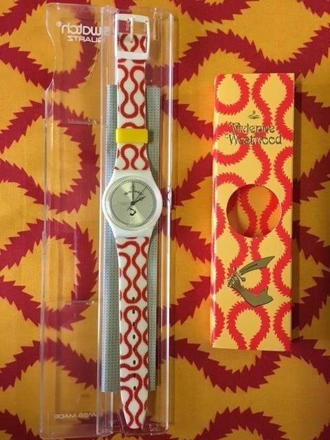 New Vintage Vivienne Westwood Swatch Red Squiggle