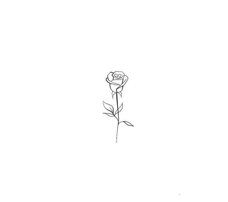 Rose Tattoo auf einem linken Hinterarm (über dem …