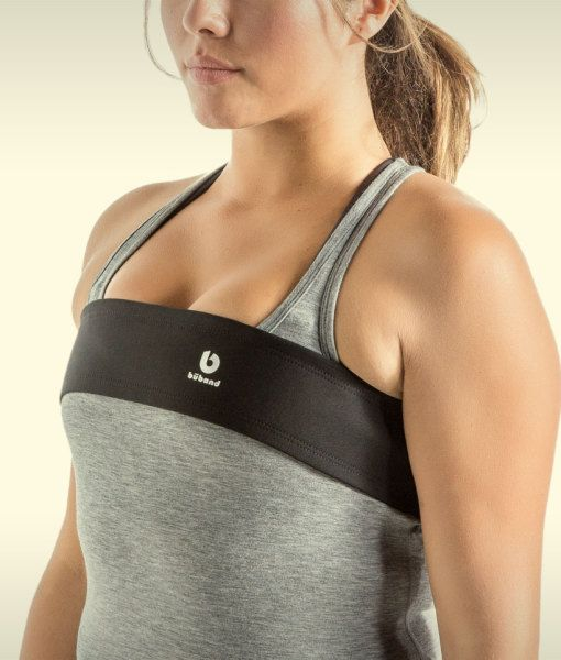 The Būband can be worn directly over a sports bra, regular bra, or a tank top with a built-in bra. The Būband also fits discretely under a shirt or tank top. #LoveTheBuband