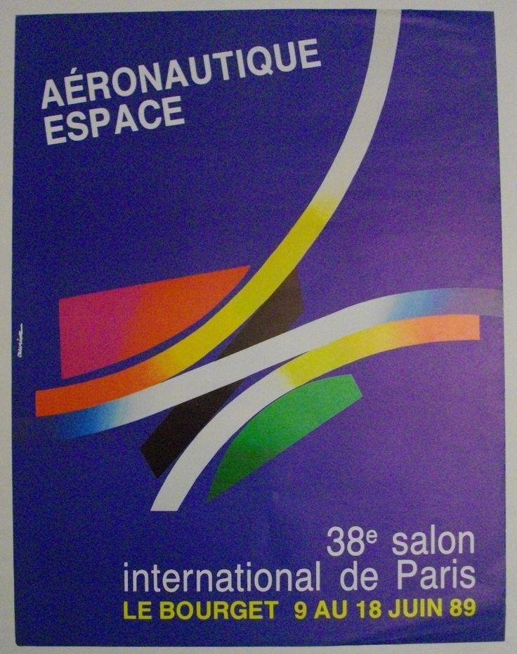 Affiche 38E Salon Aéronautique Paris 1989 Signée Auriac | eBay