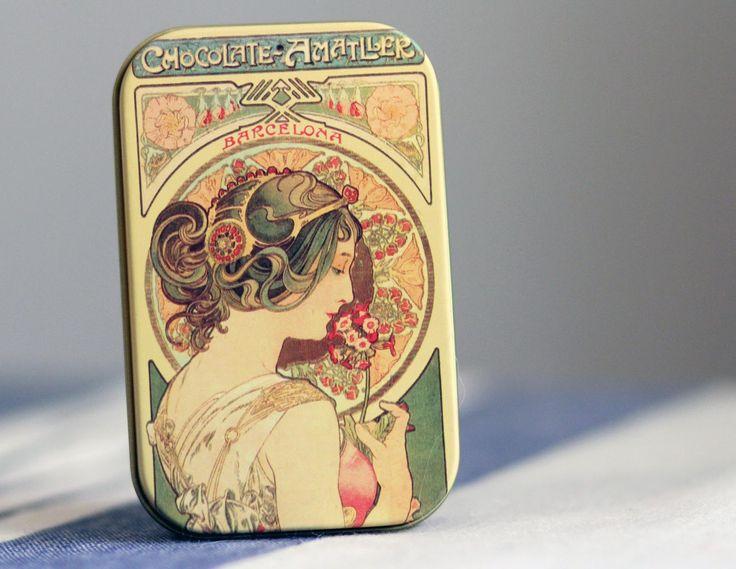 Chocolate Amatller; the most beautiful chocolate tins. http://www.spanishoponline.com/chocolate.html | SPANISH SHOP ONLINE