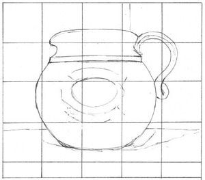 gridding up, or grid drawing, is a useful way of copying drawings when tracing isn't an option. This illustrated step-by-step shows you how to use a grid to start your drawing.: The Finished Grid Drawing