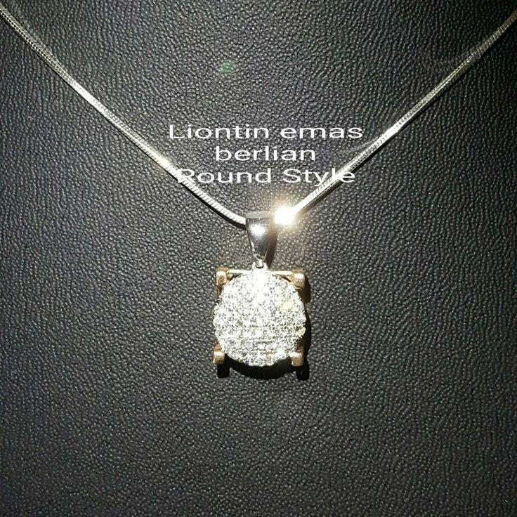 New Arrival🗼. Liontin Emas Berlian Round Style💍💎.  🏪Toko Perhiasan Emas Berlian-Ammad 📲+6282113309088/5C50359F Cp.Antrika👩.  https://m.facebook.com/home.php #investasi #diomond #gold #beauty #fashion #elegant #musthave #tokoperhiasanemasberlian