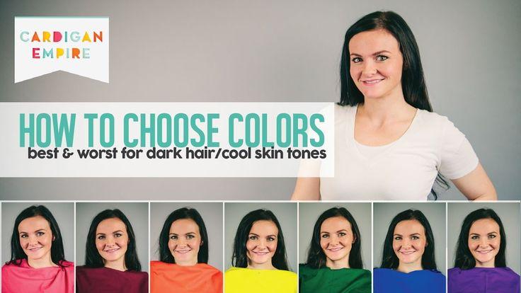 Winter Cool Brilliant Complexion Dark Hair Fair Skin Cool