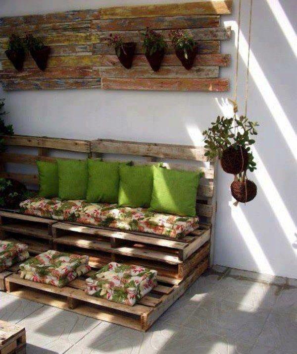 idées de déco et meubles en palettes de bois brut