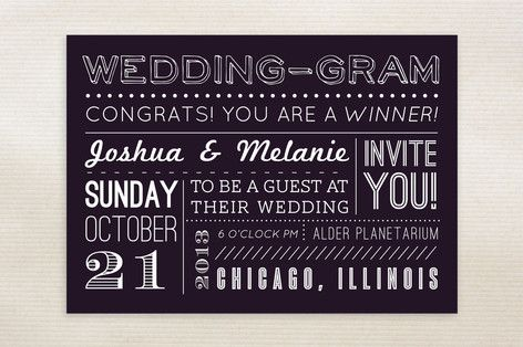 WeddingGram Wedding Invitations by Elaine Stephenson at minted.com