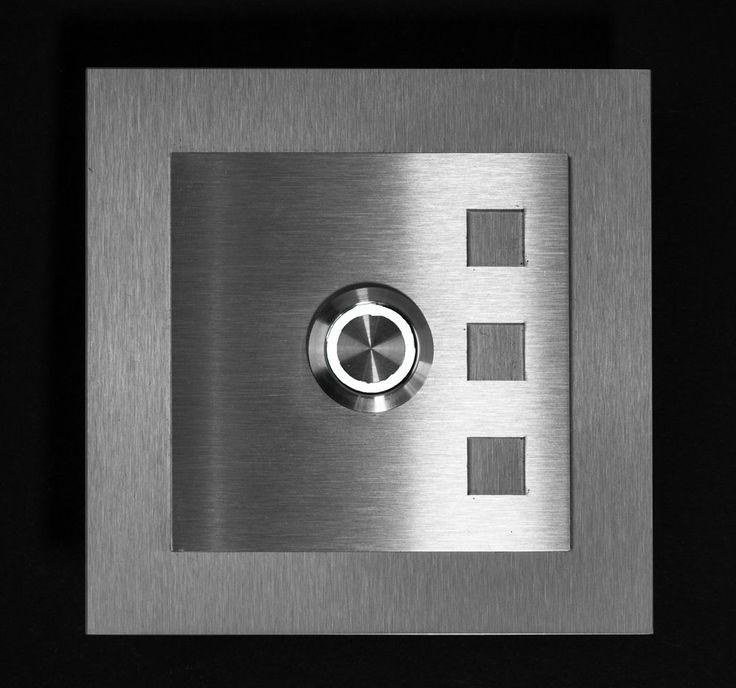 Klingelplatte Klingeltaster Klingel Türklingel Edelstahl LED in  | eBay!