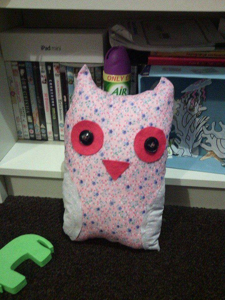 owl cushion - 1st attempt