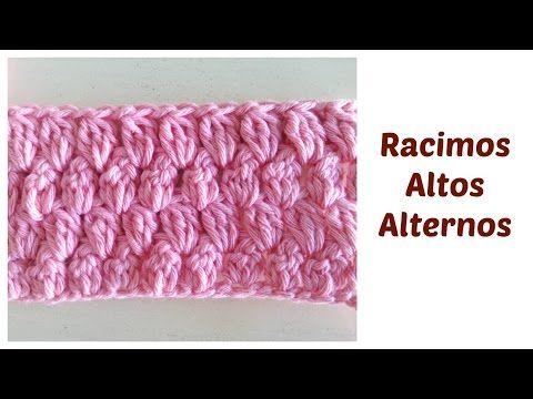 Racimos altos alternos Punto fantasía crochet - YouTube