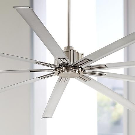 """80"""" Minka Aire Xtreme Brushed Nickel Ceiling Fan"""
