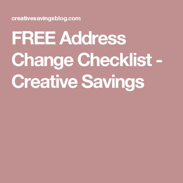 The 25+ best Address change ideas on Pinterest Change address on - free change address