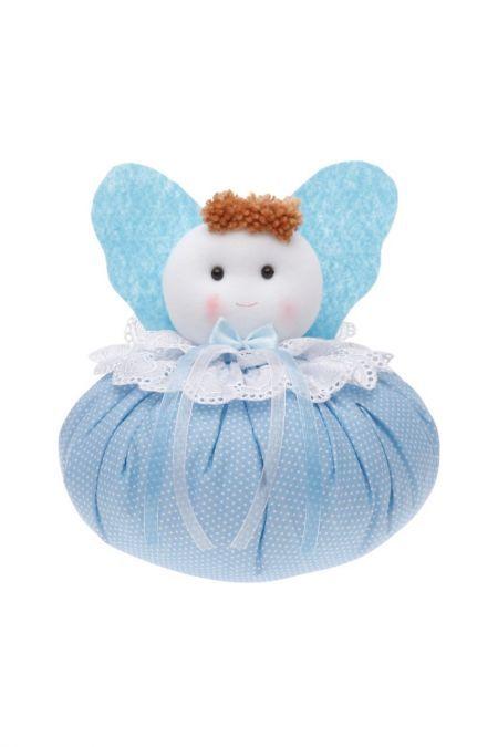 Tonton Altın Yastıklı Mavi Bebek Süsü