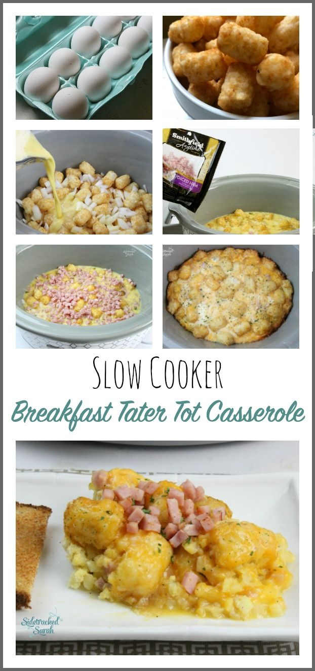 Slow Cooker Breakfast Tater Tot Casserole Recipe Recipes Slow