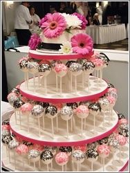 Cake Pop Tower ~ Fun  Unique Wedding Idea!! Thsi would be soooo easy and cheap too!