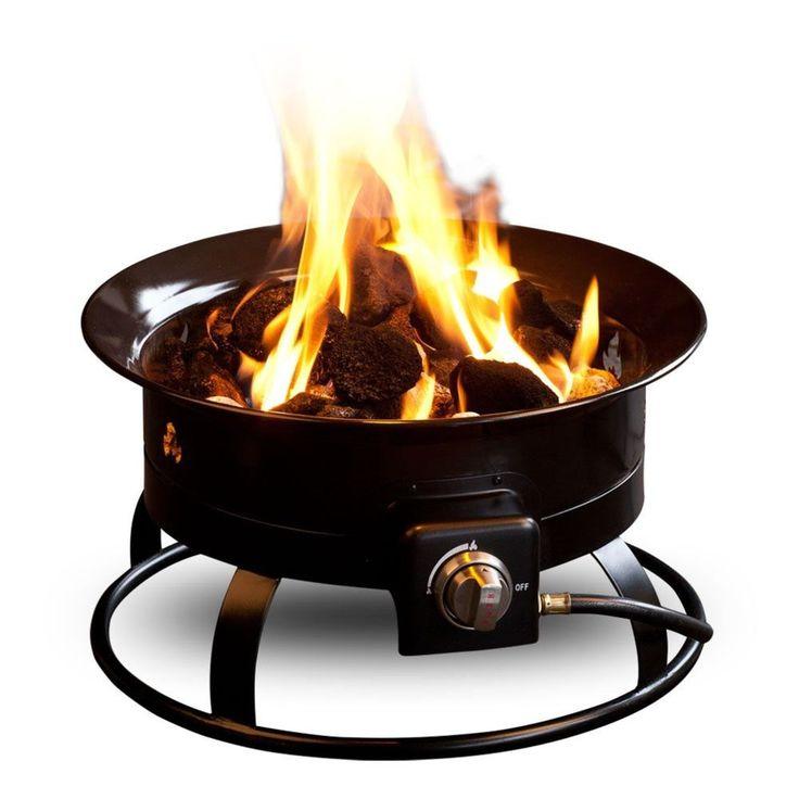 Outdoor Fire Bowl Firepit Portable Propane Fire Pit Burner Camp Stove Patio BTU #Outland