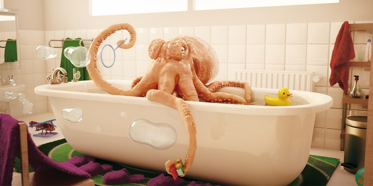 Even if you're an octopus, you have to be clean.