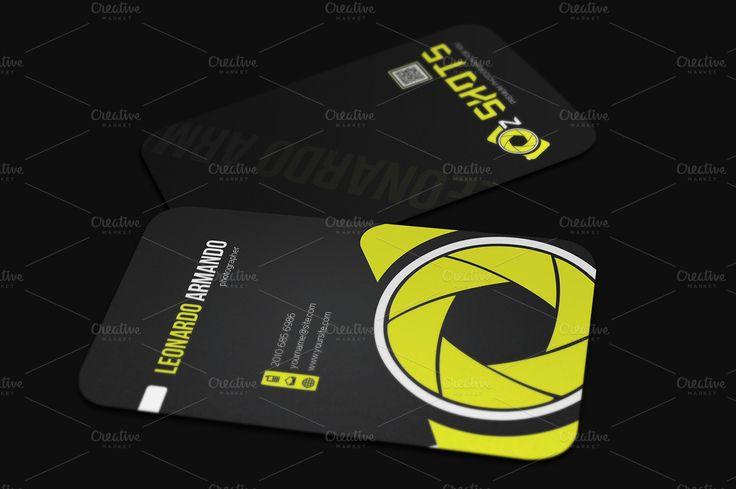 Photographer Business Card by Mastergfx on Creative Market