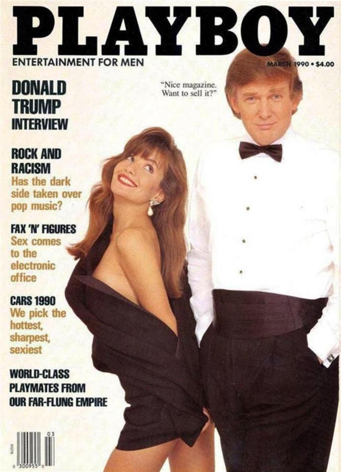 US President Donald Trump on the cover of Playboy in 1990